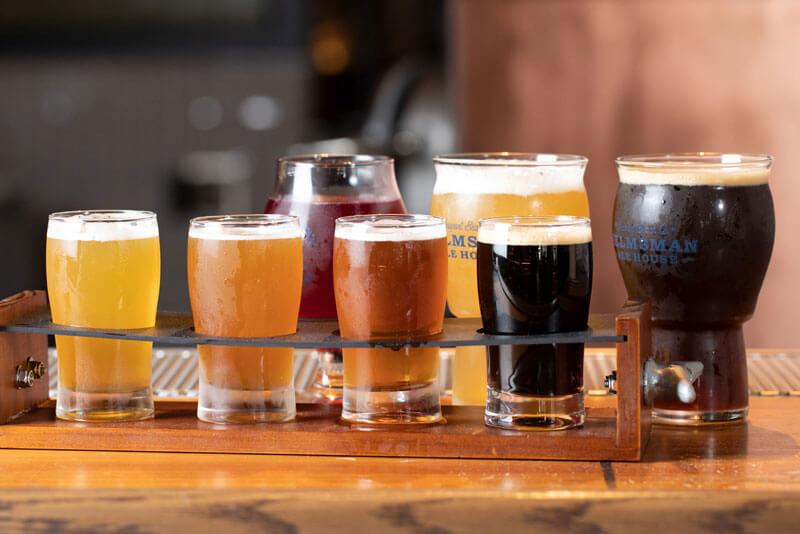 Flight of Helmsman Ale House Beers